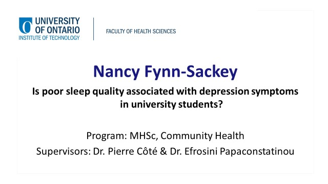 links to video of Nancy Fynn-Sackey's presentation
