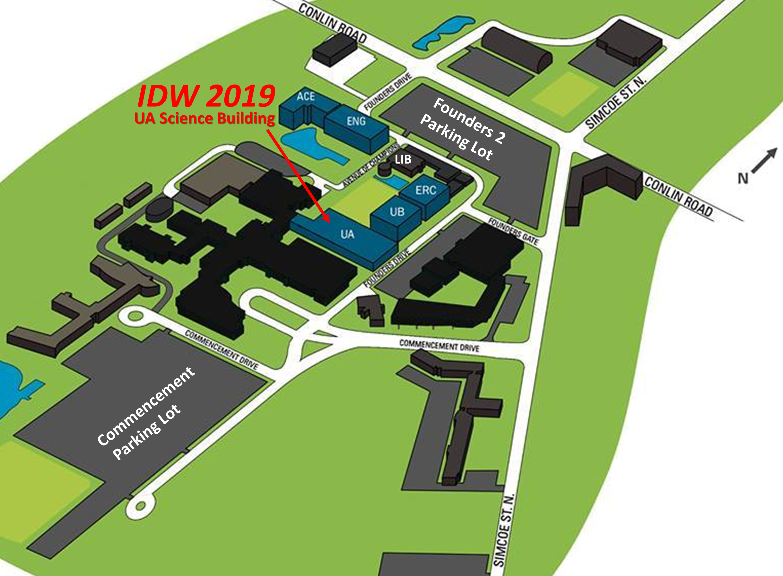 Map of Ontario Tech University's North Campus