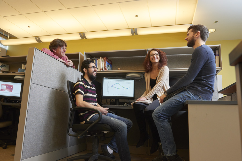 image of students in a graduate math lab