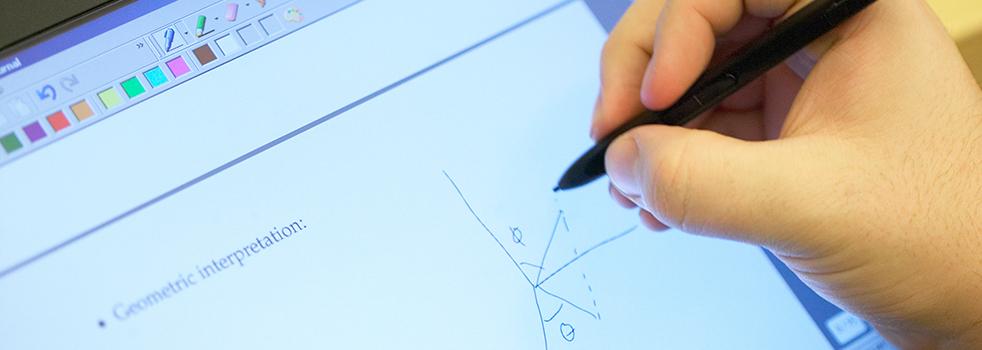 math formula on tablet
