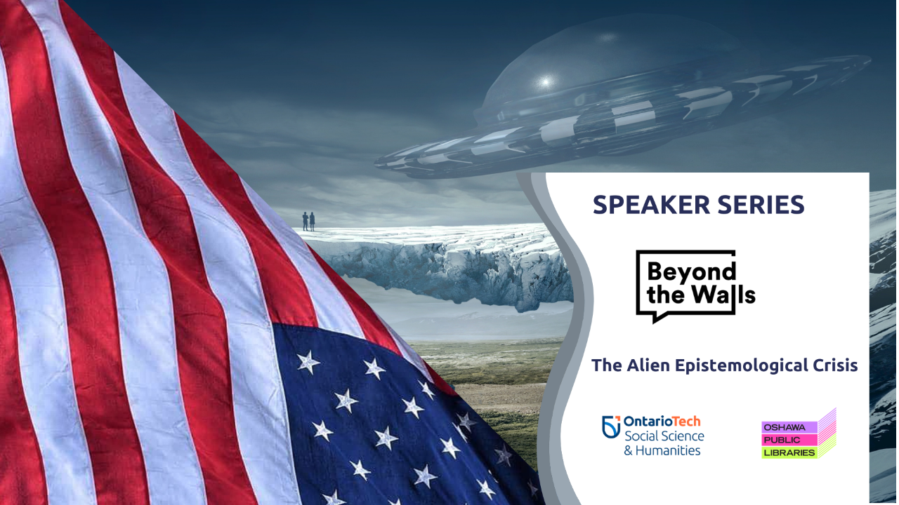 "This is the profile image for the Beyond the Walls public lecture, ""The Alien Epistemological Crisis""."