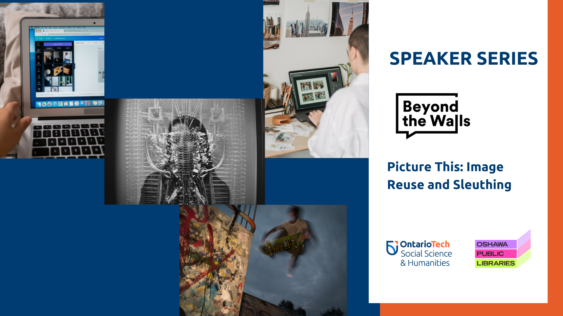"""This is the Eventbrite image for the Beyond the Walls talk, """"Picture This: Image Reuse and Sleuthing."""""""