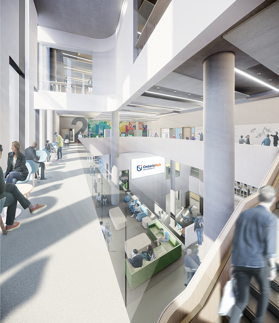 Artist's rendering of new building interior